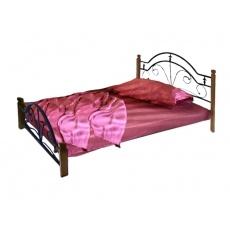 Кровать Bed Metal Диана (деревянные ножки)