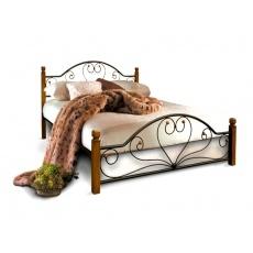 Кровать Bed Metal Джоконда (деревянные ножки)