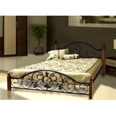 Кровать Bed Metal Жозефина (деревянные ножки)