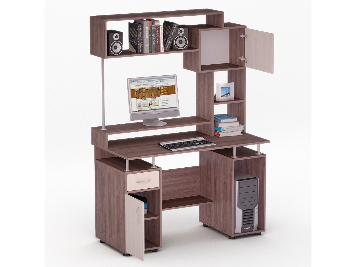 """Компьютерный стол лед 41 """"флеш ника мебель""""."""