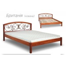 """Кровать """"БРИТАНІЯ"""" з ковкою"""