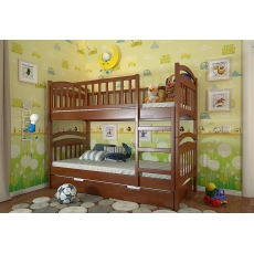 Двухъярусная детская кровать Смайл