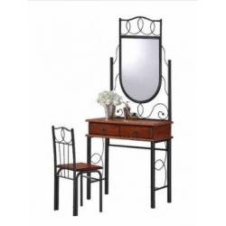 Стол туалетний с зеркалом+стул AT-215 Dr
