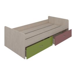 Кровать нижняя с шухлядами Аззаре система Dori Pink