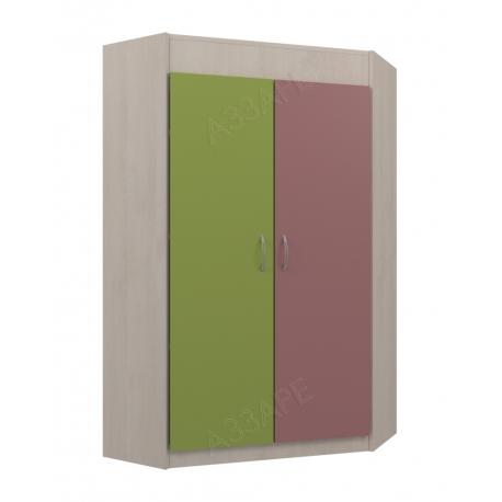 Шкаф угловой Аззаре система Dori Pink