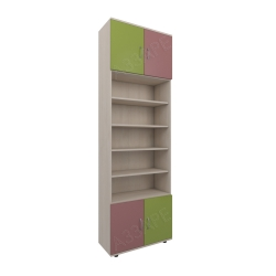 Шкаф книжный Аззаре система Dori Pink