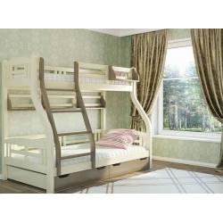 Двухъярусная детская кровать Venger Светлана с шухлядами