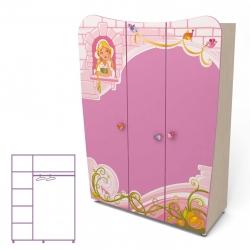 Шкаф трехдверный Briz Cinderella Cn-03