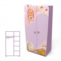 Шкаф двухдверный Briz Cinderella Cn-02