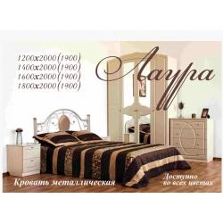 Кровать Bed Metal Лаура