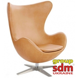 Кресло барное Grupo SDM Эгг (кожзам бежевый)