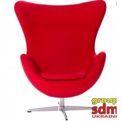 Кресло барное Grupo SDM Эгг (ткань красная)