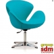 Кресло Grupo SDM Сван (ткань, цвет голубой )