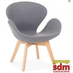 Кресло Grupo SDM Сван Вуд Армз (ткань, цвет серый )