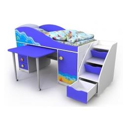 Кровать- чердак Briz Ocean, Od -40-1
