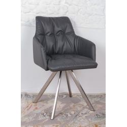 Кресло поворотное Nicolas Leon (темно-серое)
