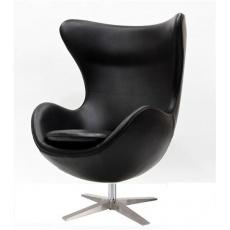 Кресло барное Grupo SDM Эгг (кожзам черный)