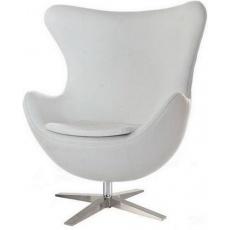 Кресло барное Grupo SDM Эгг (кожзам белый)