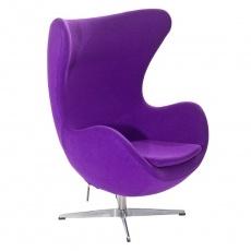 Кресло барное Grupo SDM Эгг (ткань фиолетовая)
