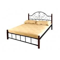 Кровать Bed Metal Анжелика (деревянные ножки)