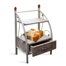 Тумба прикроватная Bed Metal (полочки+ящик)