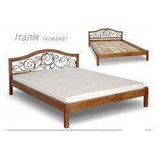 """Кровать """"ІТАЛІЯ"""" з ковкою"""