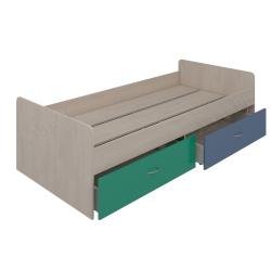Кровать нижняя с шухлядами Аззаре система Dori Blue