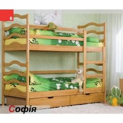 Двухъярусная детская кровать Venger София с шухлядами