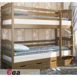 Двухъярусная детская кровать Venger Ева с шухлядами