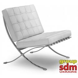 Кресло Grupo SDM Барселона (белая экокожа)
