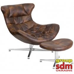Кресло с оттоманкой Grupo SDM Мексика (экокожа)