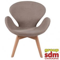 Кресло Grupo SDM Сван Вуд Армз (ткань, цвет коричневый )