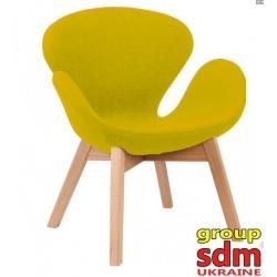 Кресло Grupo SDM Сван Вуд Армз (ткань, цвет желтый )