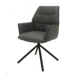 Кресло Concepto BOSTON поворотное, кожзам (графит)