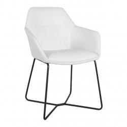Кресло Nicolas Laredo (Ларедо) белое/чёрные ноги