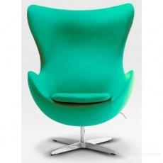 Кресло барное Grupo SDM Эгг (ткань зеленая)
