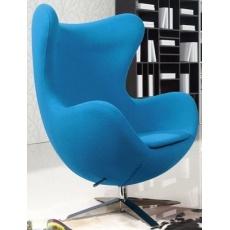 Кресло барное Grupo SDM Эгг (ткань синяя)