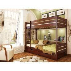 Детская двухъярусная кровать Эстелла Дуэт массив
