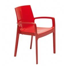 Стул Grand Soleil CREAM HIGLOPP GLOSSY RED S6617R
